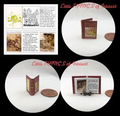 ALICE'S ADVENTURES In WONDERLAND Miniature Book Dollhouse 1:12  Book Lewis Carroll Readable Illustrated Book 1930 Ed. Rackham by LittleTHINGSinterest on Etsy