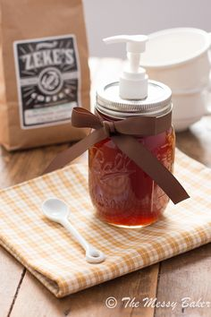 Homemade Pumpkin Spice Syrup  ~Use Organic pumpkin and switch for coconut sugars