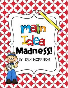 Differentiated activities to teach your students about main idea and supporting details!