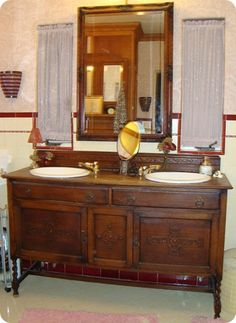 Bathroom Sinks Craigslist found this old buffet on craigslistturned it into our new