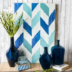 Via #hobbylobby #crafts #occasions #homesupplies #blue #chevronpattern