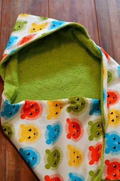 Babyhandtuch mit Kapuze nähen Anleitung