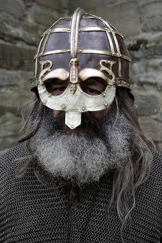 Halfdan Badger Beard Stormcrow by masimage on DeviantArt Viking Armor, Viking Beard, Viking Helmet, Arm Armor, Medieval Armor, Viking Age, Medieval Fantasy, Renaissance, Viking Reenactment