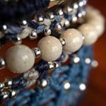 Wakami All One Cuff #armband i #blått och #silver - finns hos masomenos.se