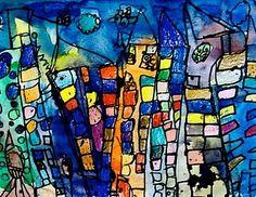 grade cityscapes Paul klee - love it! Classroom Art Projects, School Art Projects, Art Classroom, Grade 1 Art, First Grade Art, Paul Klee Art, Jr Art, Cityscape Art, Kindergarten Art