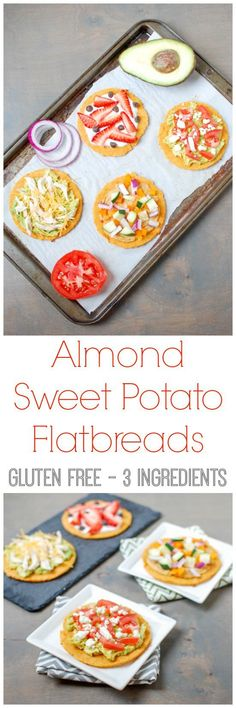 With just 3 main ingredients, these gluten-free Almond Sweet Potato Flatbreads are simple to make and easy to customize. Perfect recipe for lunch or snack time! #ad #crunchon
