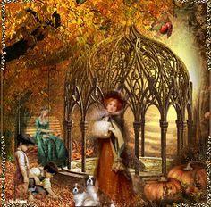 Image result for fall Vintage Winter, Vintage Christmas, Vintage Pictures, Vintage Images, Autumn Illustration, Fall Wallpaper, Autumn Day, Fall Photos, Vintage Children