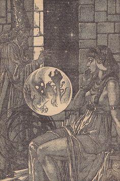 """ Fantastic Mysteries / Illustration Illustration (Virgil Finlay) aus: Fantastic Mysteries / Vol. 11 Nr. 3 Frank Munsey Company"