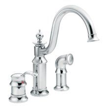 View the Moen S711 Single Handle Kitchen Faucet with Side Spray from the Waterhill Collection at FaucetDirect.com.