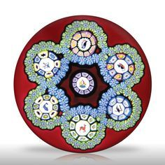 selman Paperweight | Perthshire Paperweights 1979 garlands with picture canes paperweight ...
