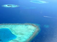 Aerial view of the Maldives taken from a seaplane. Bluesails Sportfishing Pins www.bluesailsrompin.com