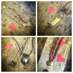 Custom hearts and Love necklaces