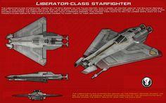 Liberator-class starfighter ortho [1][New] by unusualsuspex on DeviantArt