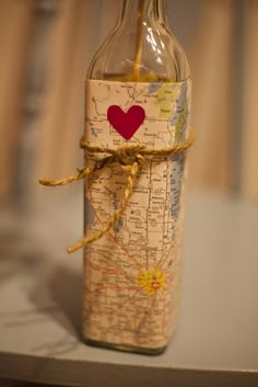 This could be cute. I make a bottle like this and put places I want to go inside(: Then every Summer I can draw my vacation place!
