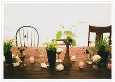 Simple + perfect table setting via 100 Layer Cake blog