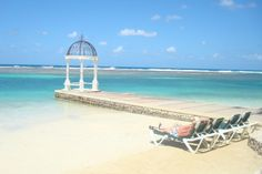 One of the many gazebos that jut out into the sea - Jamaica, Sandals Royal Caribbean