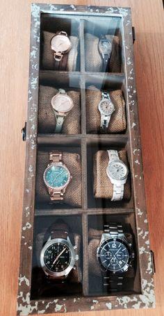 Homemade watch box- made by Matt and me