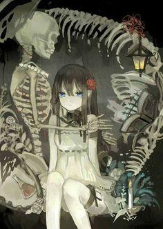 Fan Art Anime, 5 Anime, Anime Angel, Anime Artwork, Anime Art Girl, Anime Girls, Dark Art Illustrations, Scary Art, Creepy