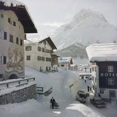 1969 Wall Art - Photograph - Hotel Krone, Lech by Slim Aarons Engelberg, Slim Aarons, St Anton, Town And Country, Canvas Pictures, North Africa, New Hampshire, In Hollywood, Wonderful Time