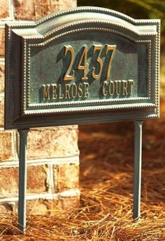 Bevolo Two-Line Estate Wall Address Marker - estate 2 line, Verdigris/Bronz by Home Decorators Collection. $199.00. Bevolo Two-Line Estate Wall Address Marker - Bring Some Flair To Your Front Door With The Bevolo Two-Line Estate Wall Address Marker. Our Personalized Plaques Are Handcrafted Of Rust-Free Cast Aluminum With A Baked-On Finish To Withstand The Elements And Keep Your Marker Looking Marvelous. Dress Up Your Digits Today! Available In Multiple Color Opti...