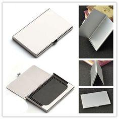 Business Card Case, Business Card Holders, Business Cards, Purse Organization, Box Office, Aluminium Alloy, Purse Wallet, Metal, Pocket