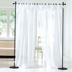 Buy Curtains online & see our Measuring & Buying Guide! Free UK delivery over ✓ Great Selection ✓ Excellent customer service ✓ Find everything for a beautiful home Sliding Room Dividers, Diy Room Divider, Divider Ideas, Room Divider Curtain, Curtain Room, Hanging Curtains, Sheer Curtains, Strauss Innovation, Home Decor Ideas