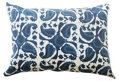 Indigo printed pillow
