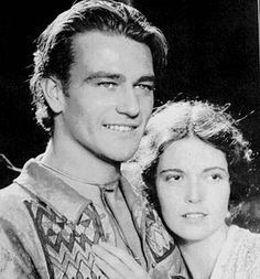 """John Wayne and Marguerite Churchill in """"The Big Trail"""" Young John Wayne, Happy Birthday John, Movie Shots, Star Wars, American Legend, Actor John, Ballet, Look Younger, Famous Faces"""