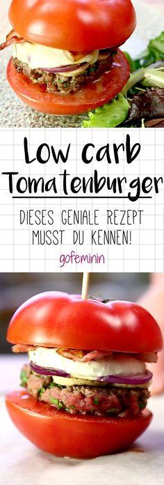 Lust auf Burger, aber bitte ohne Kohlenhydrate? Probier den Tomatenburger!