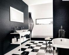 Badezimmer Ideen in Schwarz-Weiß - 45 inspirierende Beispiele | Art ...
