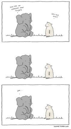 forgetful elephant//