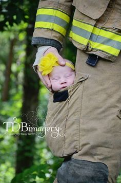Newborn Babies Children's Photography Kids Photo Ideas Firefighter Daddy www.tdbimagery.weebly.com