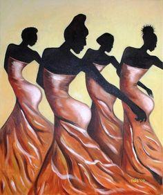Dancers - African art