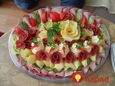 64 New Ideas For Cheese Platter Presentation Display Party Trays Meat Trays, Meat Platter, Food Platters, Cheese Platters, Party Trays, Party Snacks, Meat Fruit, Fruit Salad, Food Garnishes