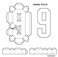 LETTERE DELL'ALFABETO E NUMERI IN 3D FAI DA TE | CreaConLaCarta 3d Alphabet, Alphabet Templates, Origami Templates, Box Templates, Diy Gift Box, Easy Diy Gifts, Gift Boxes, 3d Letters, Letters And Numbers