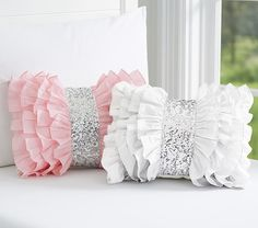 Find kids pillows in cute designs at Pottery Barn Kids. Shop kids throw pillows that will add style and personality to the playroom. Bow Pillows, Cute Pillows, Sewing Pillows, Kids Pillows, Throw Pillow, Decoration Shabby, Quilt Modernen, Pillow Crafts, Cushion Cover Designs