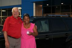 Congrats to Damaria Bates, shown with her salesman Terry Lavigne, on the purchase of her 2008 Mercury Mariner Hybrid and for winning an Apple iPod Shuffle in our Memorial Day test drive sweepstakes