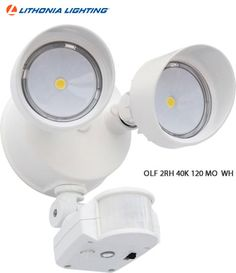 Lithonia Lighting Olf 2rh 40k 120 Mo Security Floodlight With Integrated Led And Motion Sensor