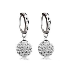 1 Paire Femmes dame élégante cristal strass Star Ear Stud Moon Dangle Earrings