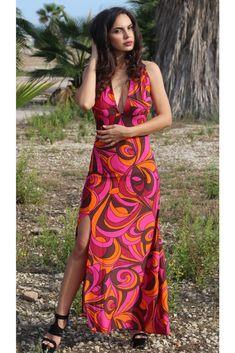 vestido largo estampado #motufashion #motufashionmoda #vestido #estampado #tiendaonline #largo Wrap Dress, Dresses, Fashion, Patterned Dress, Block Prints, Long Gowns, Fall Fashion 2018, Fall Collections, Wrap Dresses
