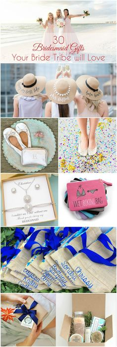 Great ideas for destination wedding bridesmaid gifts that are practical, thoughtful and unique.