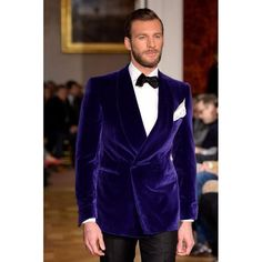 Purple Velvet Men Suits 2018 Custom Made Double Breasted Tuxedos 2 Pieces Formal Blazer Custom Party Vestidos (Coat+Pants+Bow). Men's Fashion, Mens Fashion Suits, Mens Suits, Fashion Menswear, Fashion Weeks, Modern Fashion, Wedding Tuxedo Styles, Wedding Suits, Wedding Tuxedos