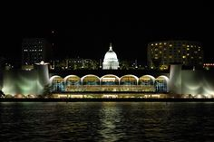 Monona Terrace ... in the summer, Friday night dances ... great view of Lake Monona's water skiers ... community gathering space.