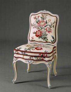 Une chaise du mobilier de la marquise de Pompadour au château de Bellevue Foliot Nicolas-Quinibert (1706-1776)Versailles, châteaux de Versailles et de Trianon