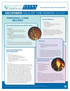 "December 2014 Aroma Share Club ""Home for the Holidays"" collection includes Black Spruce and Fir Balsam essential oils - Personal Care Recipes"