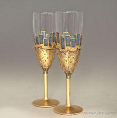 Verres à Champagne verres de paon flûte de Champagne verres