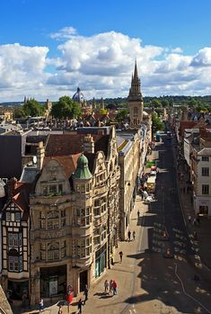 High Street seen from Carfax Tower in Oxford / Taalreis Engeland - Oxford