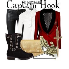"Ahhh, I ♥ absolutely everything about this Captain Hook from ""Peter Pan""  Disneybound outfit!! ♥"