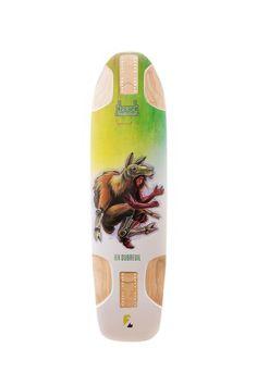 Kebbek: Ben Dubreuil Bio-Suit Series Longboard Skateboard Deck