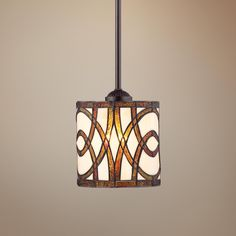 Art Glass Circles Tiffany Style Mini Pendant Light